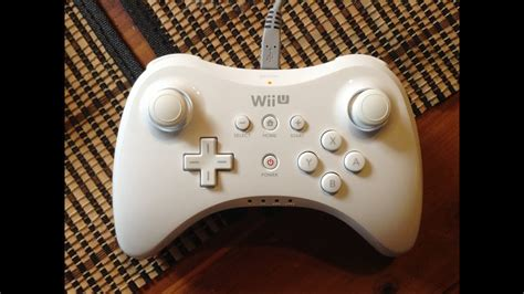 Wii U Pro Controller Unboxing (White) - YouTube