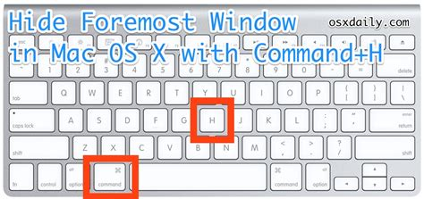 Hide All Windows on a Mac with Keyboard Shortcuts