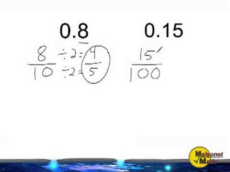 Converting Decimals Into Fractions - YouTube