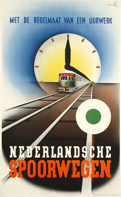 Dutch railway posters of the 1930s   retours