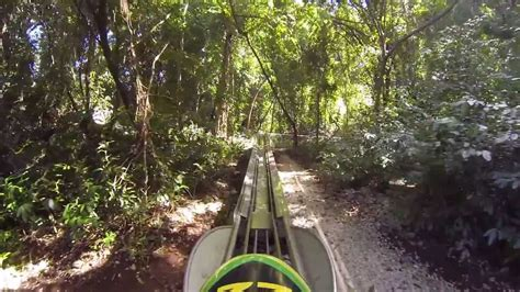 Jamaican Bobsled Rollercoaster Mystic Mountain - YouTube