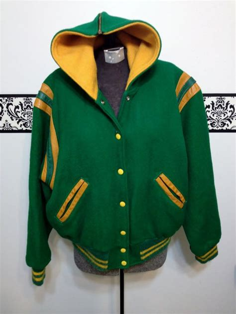 1950's Green and Gold Varsity Jacket Vintage by