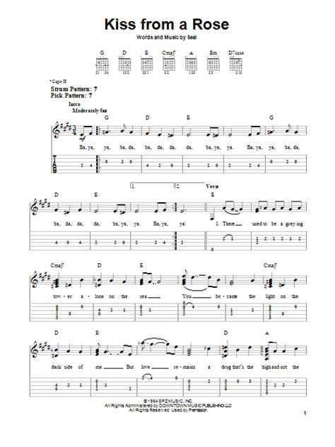 Kiss From A Rose by Seal - Easy Guitar Tab - Guitar Instructor