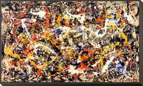 Convergence Framed Print Mount by Jackson Pollock at