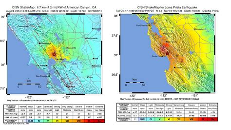 Map: How does the Napa earthquake compare to the big one