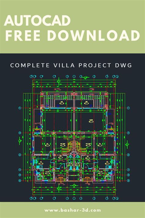 Complete villa project dwg free download   Autocad