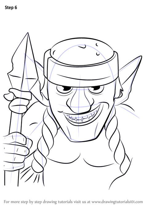 Learn How to Draw Spear Goblins from Clash Royale (Clash