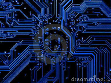 Blue Motherboard Royalty Free Stock Photos - Image: 3303188