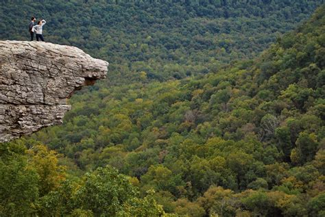 Hawksbill Crag/ Whittaker Point in the Ozark Mountains of