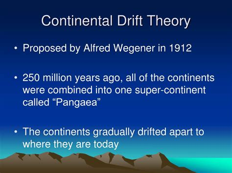 PPT - The Theory of Continental Drift PowerPoint