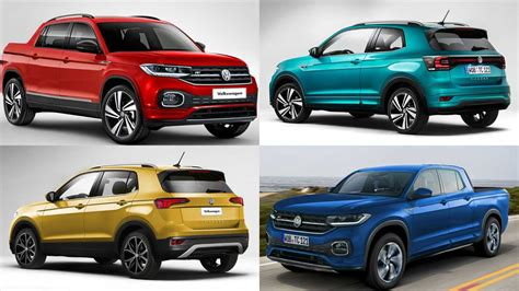 VW T-Cross Convertible And Pickup Truck Digitally Imagined