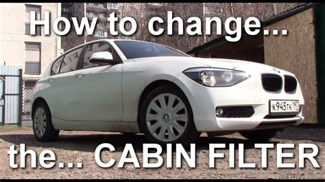 How to Replace the CABIN AIR FILTER on a BMW 1 series F20