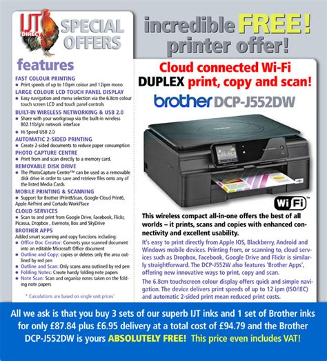 Brother DCP J552DW Printer Deal - IJT Direct