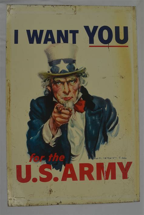 """Lot Detail - United States Army 1967-69 Uncle Sam """"I Want"""