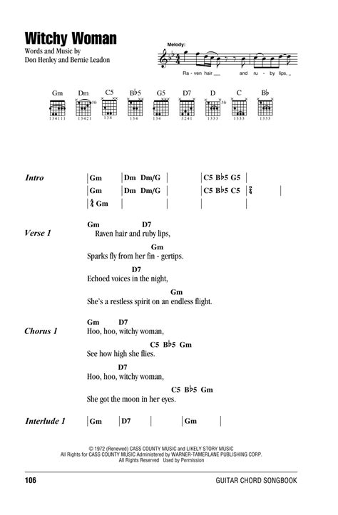 Witchy Woman   Sheet Music Direct