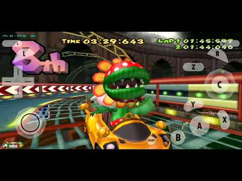 Playing Mario Kart using a Wii emulator on my PC with an