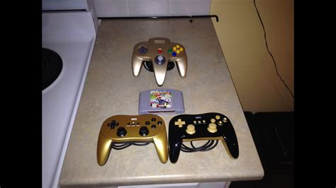 Black and Gold N64 Controller