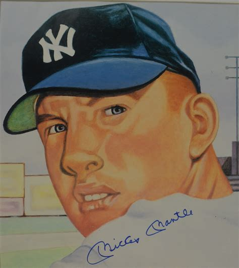 Lot Detail - Mickey Mantle Autographed 1953 Topps Card