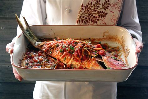 Whole Fish Baked In Tomatoes, Onions, And Garlic | Emerils