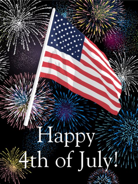 4th of July Fireworks Greeting Card   Birthday & Greeting