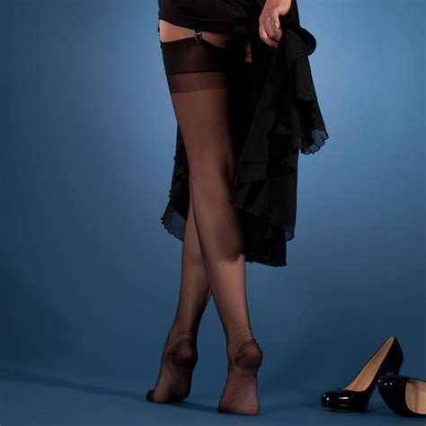 Gio RHT Authentic Non-stretch Stockings at Stockings HQ