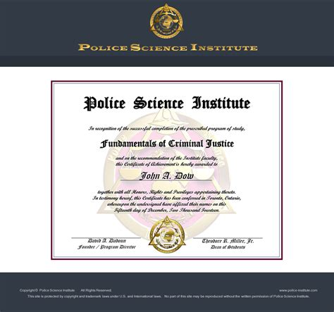 Criminal Justice Online Courses at Police Science Institute