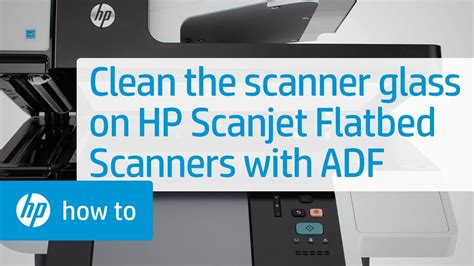 Cleaning the Scanner Glass on HP Scanjet Flatbed Scanners
