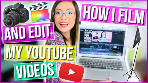 How I Film and Edit My YOUTUBE VIDEOS!♡Camera, iPhone