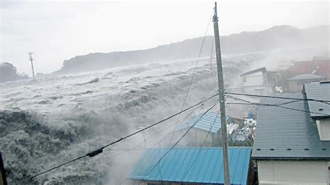 The biggest tsunami recorded was 1,720 feet tall and