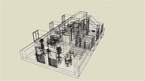 Apartment Design with Google SketchUp (Wireframe) - YouTube